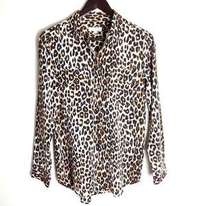 Equipment Signature Silk leopard print blouse
